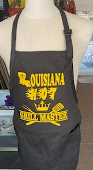 ouisiana Hot Apron Grill Master Vynal Gold