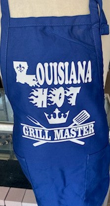 Louisiana Hot Apron Grill Master Vynal Blue