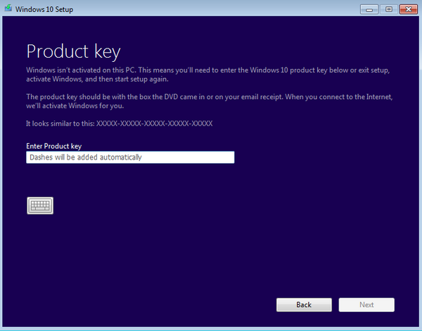 windows 10 key