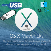 Apple Mac OS X 10.9 Mavericks Recovery Repair Reinstall USB
