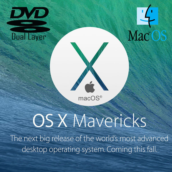 Apple Mac OS X 10.9 Mavericks Recovery Repair Reinstall DVD