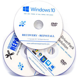 Windows 10 Reinstall Mega Bundle with Drivers & Repair Disc Disk DVD