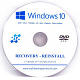 Asus Recovery DVD Disk for Windows 10 Home and Professional 32/64 Bit - Software Repair World