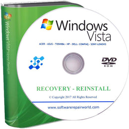 Windows Vista All Versions Recovery Reinstall Repair Disc Disk DVD