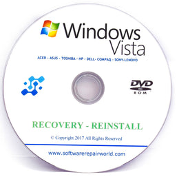 Toshiba Recovery DVD Disk for Windows Vista PC Computer Laptop