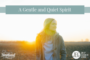 A Gentle and Quiet Spirit by Elizabeth George