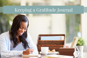 Keeping a Gratitude Journal