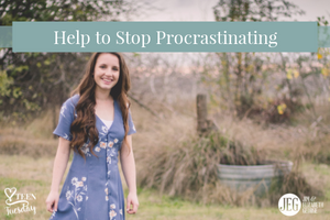 Help-to-stop-procrastinating elizabeth-george teen-tuesday