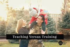 Teaching Versus Training