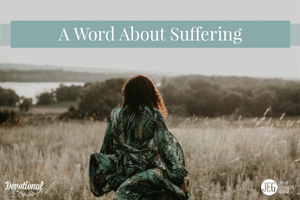 A Word About Suffering by Elizabeth George
