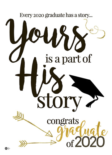 Yours is a Part of His Story - Graduation Card (Digital)