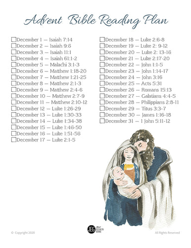 Advent Bible Reading Plan (Printable)