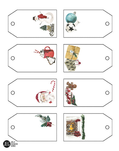 Christmas and Advent Gift Tags (Printable)