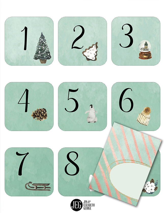 Advent Set Green Envelope (Printables)
