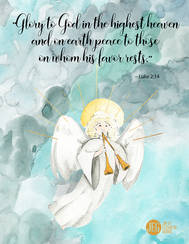 Christmas Art Print - Glory to God (Printable)