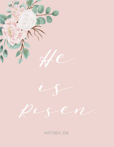 He is Risen (Printable)