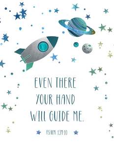 Even There Your Hand Will Guide Me (Children's Printable)