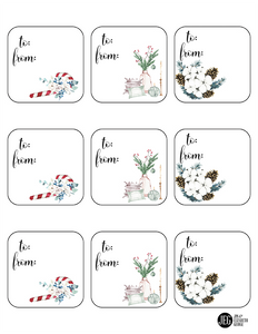 Christmas and Advent Square Gift Tags (Printable)