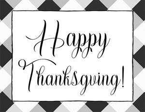 Happy Thanksgiving (Printable)