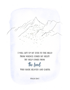 I Will Lift Up My Eyes (Printable)