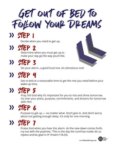 Get Out of Bed to Follow Your Dreams (Printable)