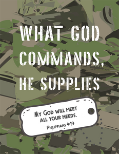 What God Commands, He Supplies (Printable)