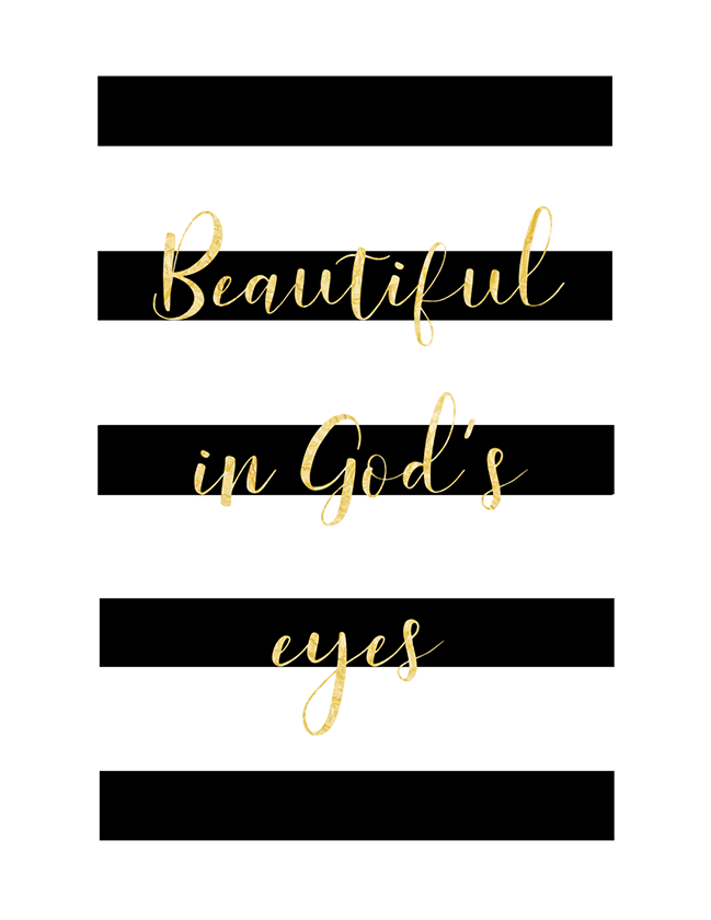 Beautiful in God's Eyes (Printable)