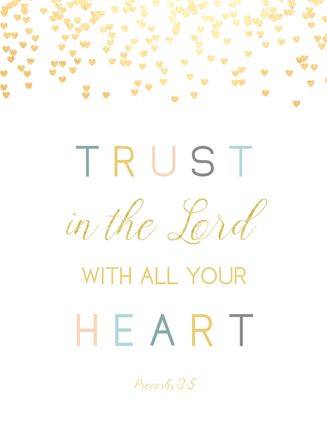 Trust in the Lord with all Your Heart (Printable)