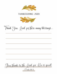 Thanksgiving 2020 (Printable)