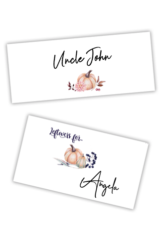 Thanksgiving Guest Place Cards (Printables)
