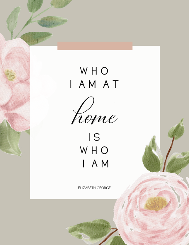 Who I Am at Home (Printable)