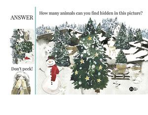 Christmas and Advent Children's Game - How Many Animals (Printable)