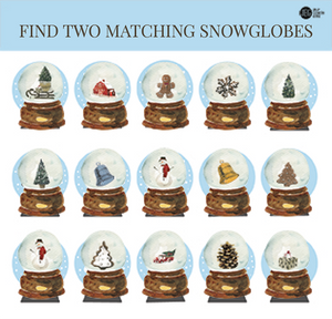 Christmas and Advent Children's Game Set - Matching Snow Globes (Printable)