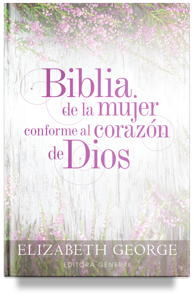 Biblia de la mujer conforme al corazón de Dios: Duotono morado (The Bible for Women After God's Own Heart, Spanish Edition) by Elizabeth George