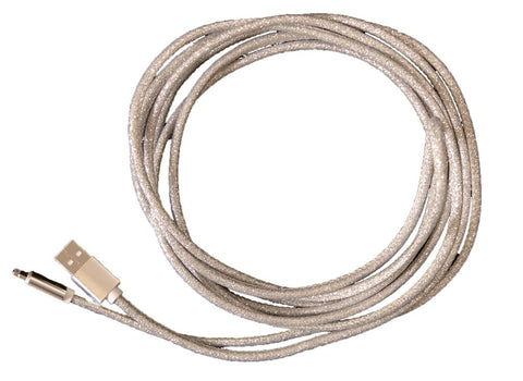 Glitter Silver Charger Cord - Courtyard Style