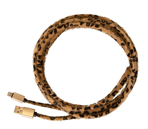 Leopard Charger Cord - Courtyard Style