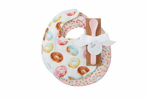 Donut Muslin Bibs and Spoon - Courtyard Style