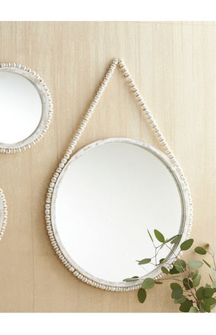 Hanging Beaded Mirror - Courtyard Style