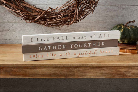 Fall Sentiment Stick - Courtyard Style
