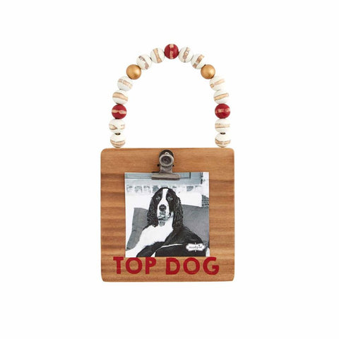 Top Dog Wood Frame Oranment - Courtyard Style