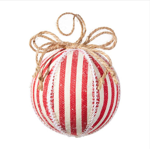 Ticking Stripe Ball Ornament