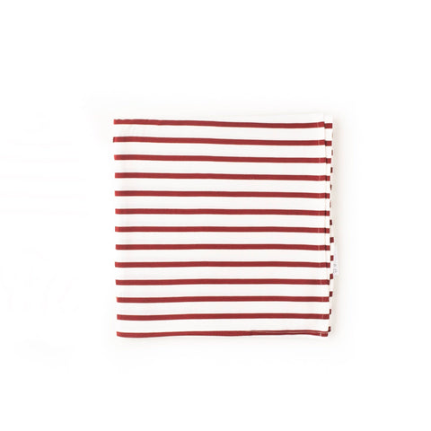 Gigi and Max Maroon and White Stripe Swaddle Blanket - Courtyard Style