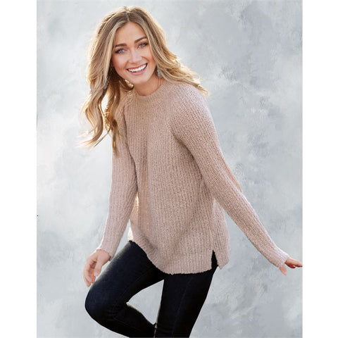 Mara Sweater Dusty Rose - Courtyard Style