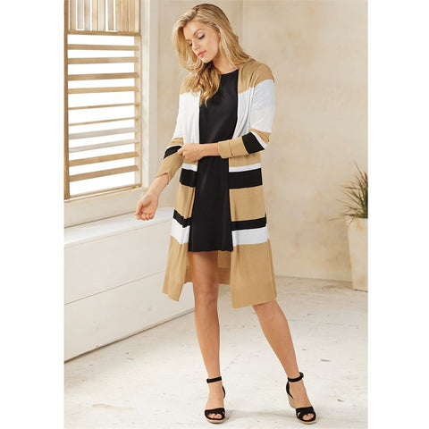 Beau Striped Duster - Courtyard Style