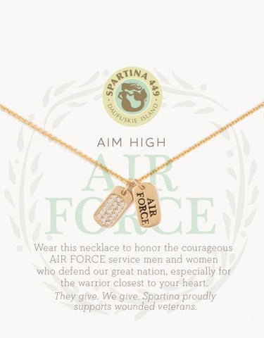 Sea La Vie Air Force Necklace - Courtyard Style