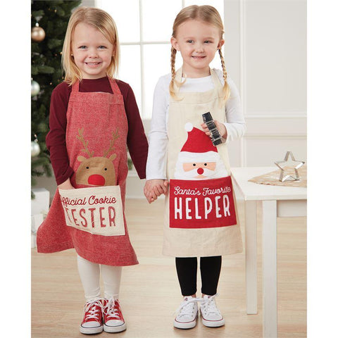 Reindeer Apron with Cookie Cutter - Courtyard Style