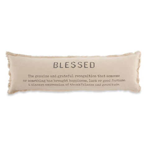 Blessed Long Pillow - Courtyard Style