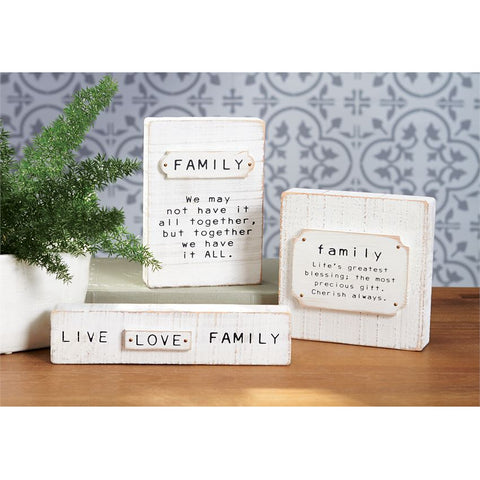 Family Block Plaques - Courtyard Style