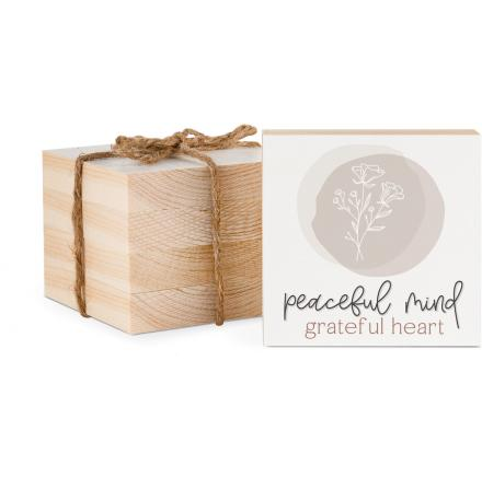 Peaceful Mind Grateful Heart Coaster - Courtyard Style