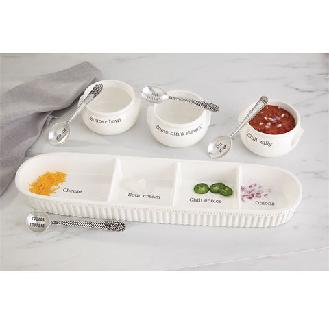 Chili Willy Soup Bowl Set - Courtyard Style